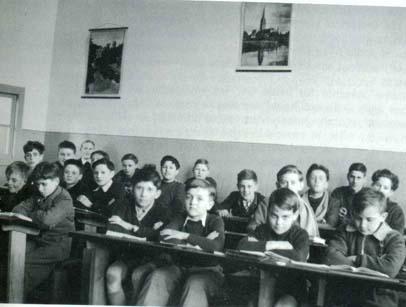 Classe de 5 ème du Père SCHWARTZ en 1950