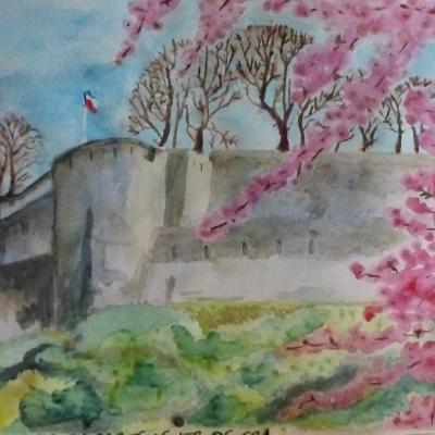 Le château de Sierck au printemps